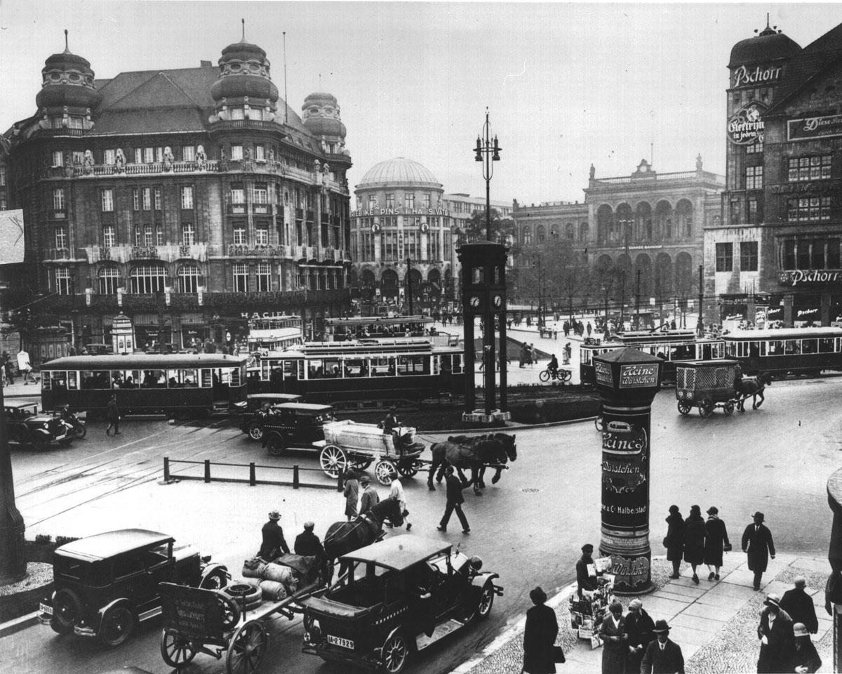 Potsdamer Platz Überblick vor ca. 100 Jahren