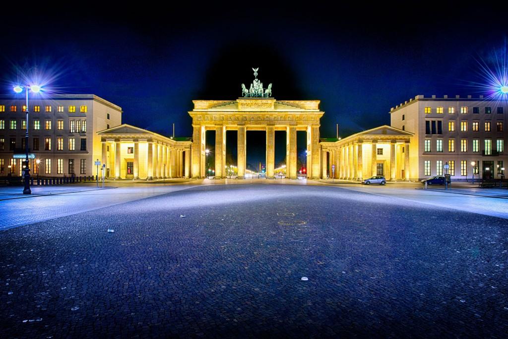 Brandenburger Tor Berlin nachts