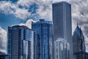 Chicago -Gebäude werden gebaut