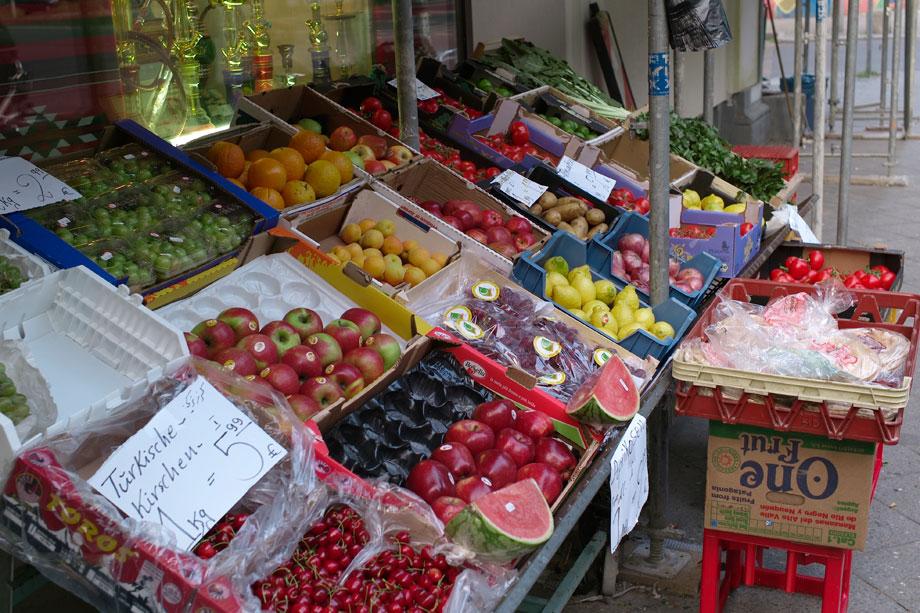 Obst und Gemüse in der Bergmannstrasse