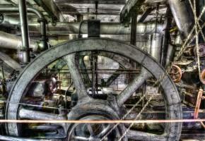 Brikettfabrik in der Lausitz