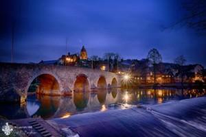Lahnbrücke Wetzlar, Blaue Stunde