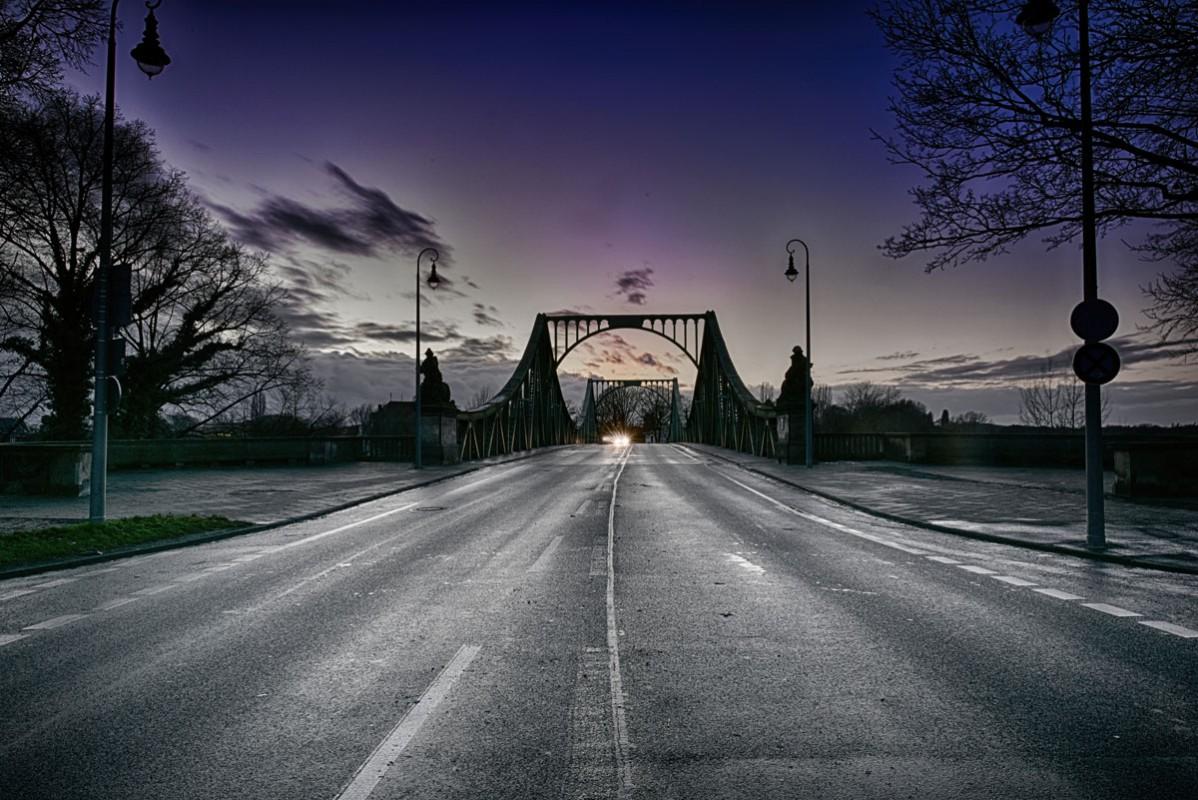 Glienicker Brücke Sonnenuntergang