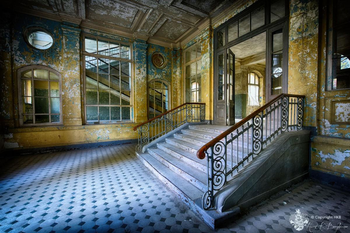 Beelitz Heilstätten Eingang Badehaus