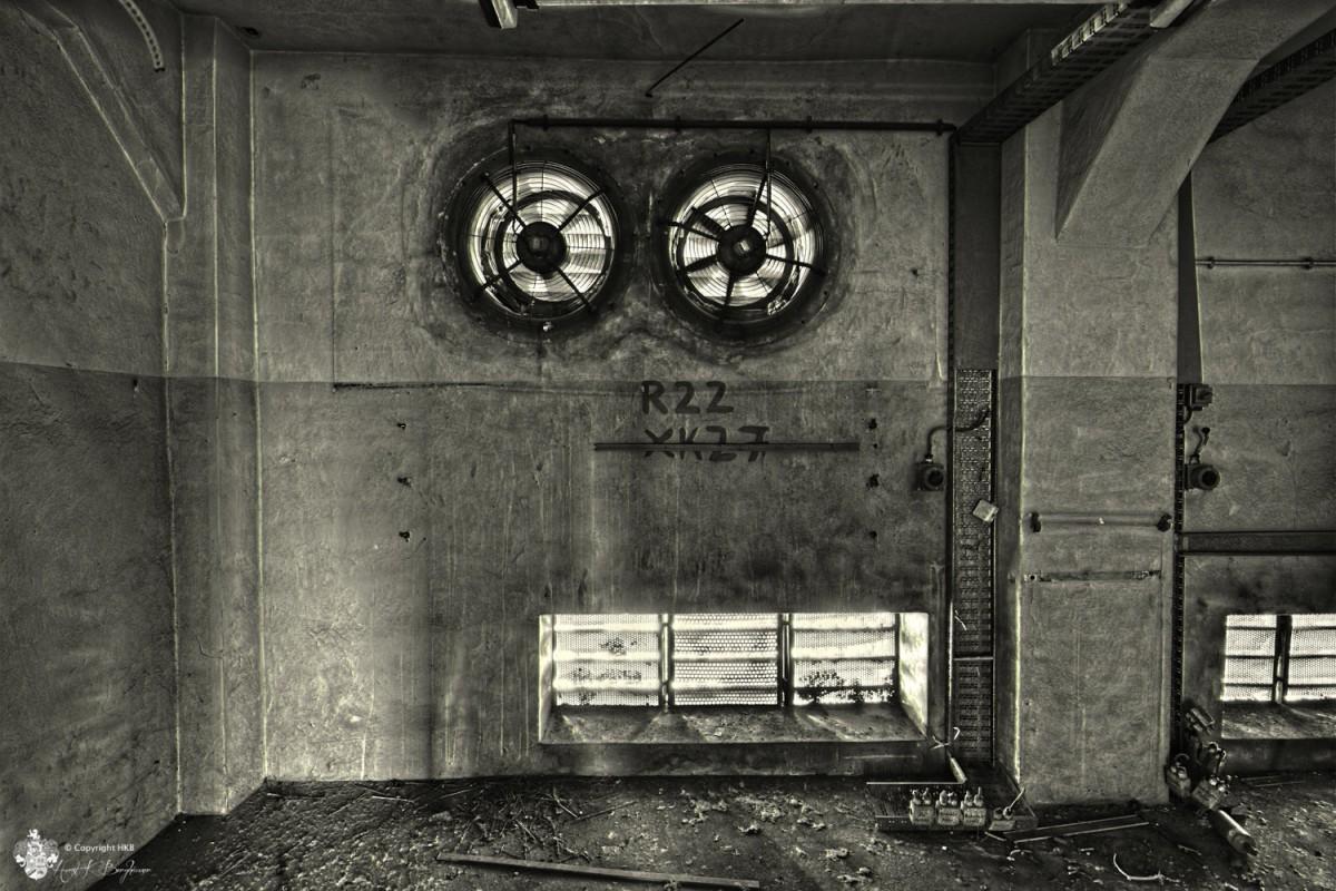 Lüfter - Ventilator in alte Fleischfabrik