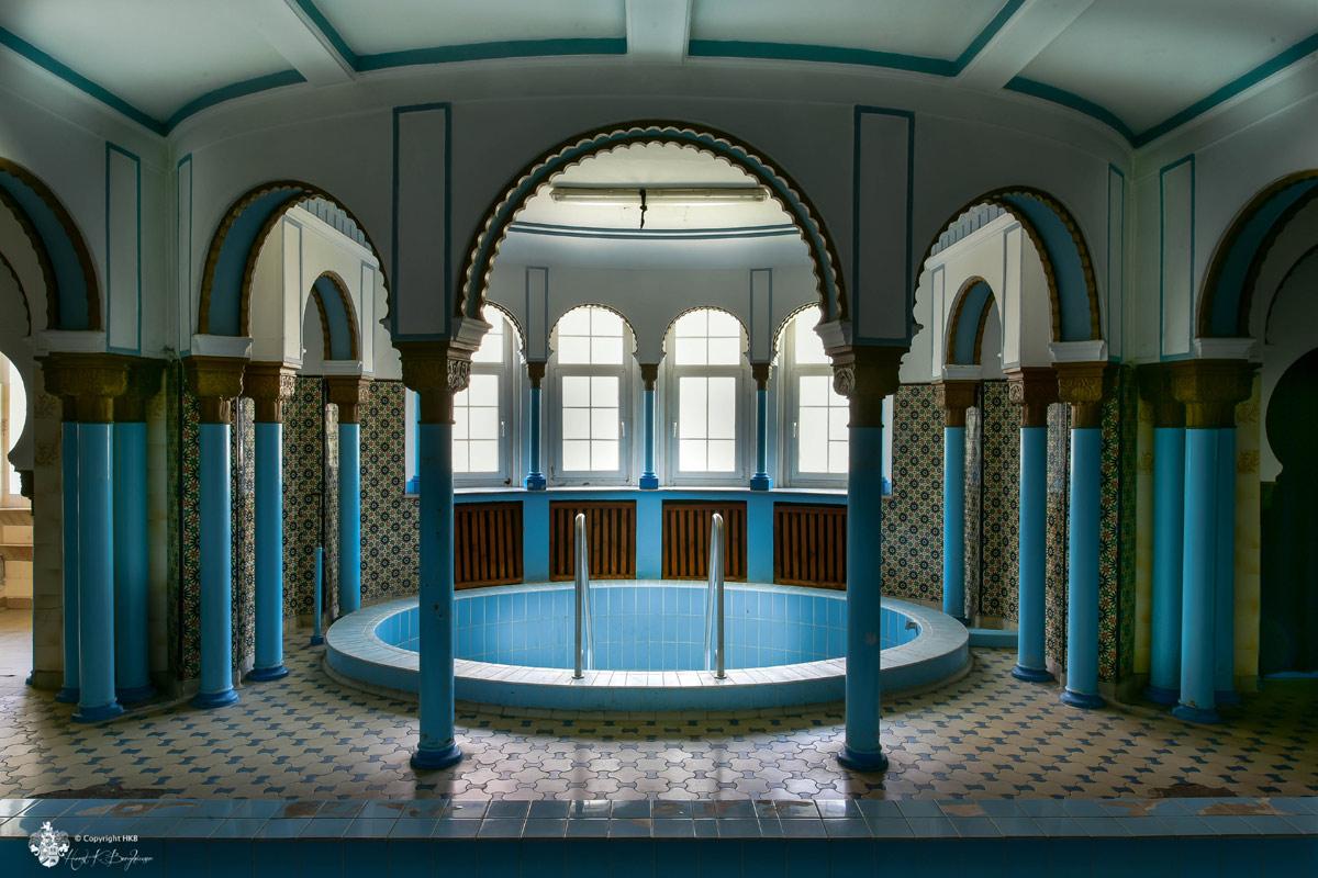 Stadtbad Leipzig - Sauna und Säulen