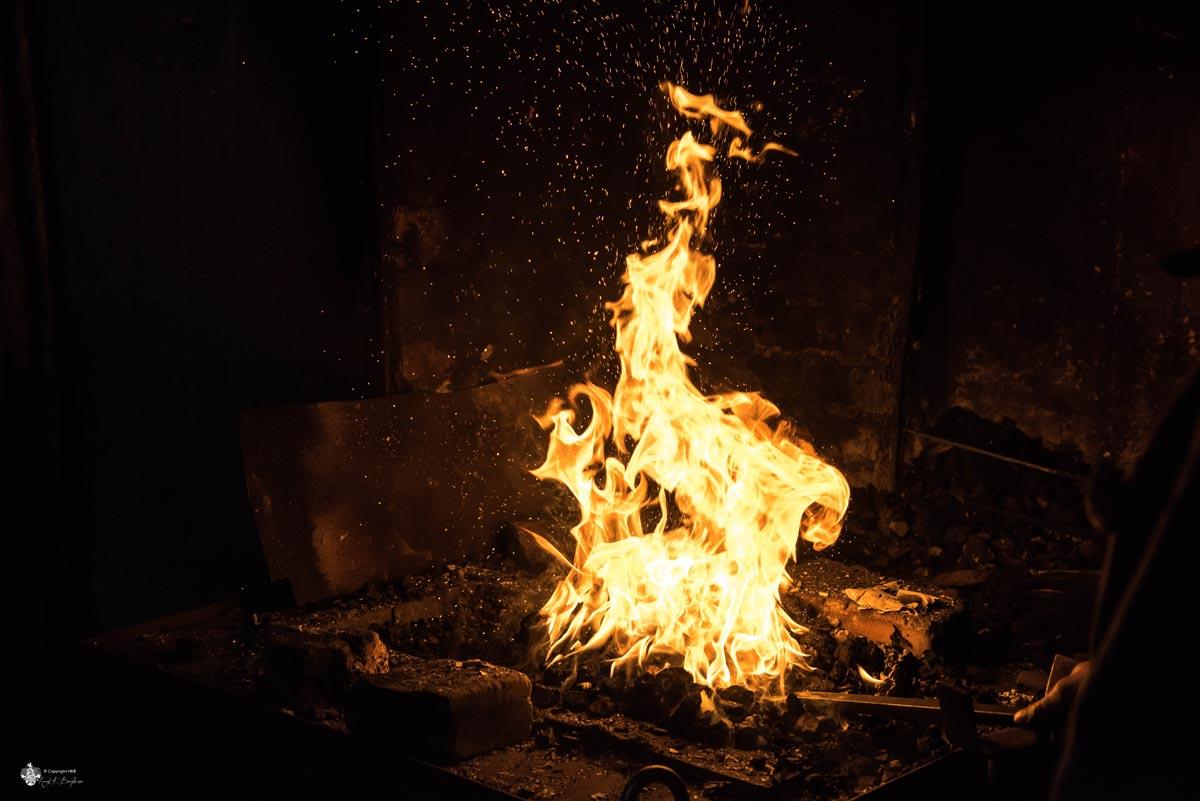 Schmiede Flammen