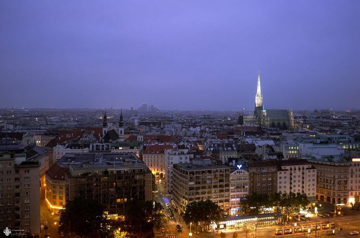 Blick vom Sofitel zum Wiener Stephansdom
