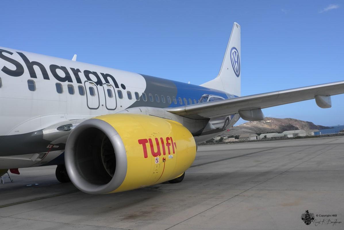 Flugzeug von der TUI