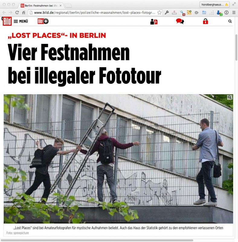 Illegale Fototour in Berlin