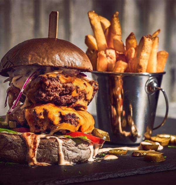 Food-Fotografie Grindhouse Burger