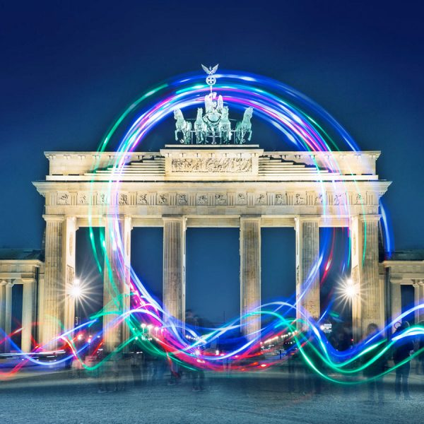 Light-Painting am Brandenburger Tor