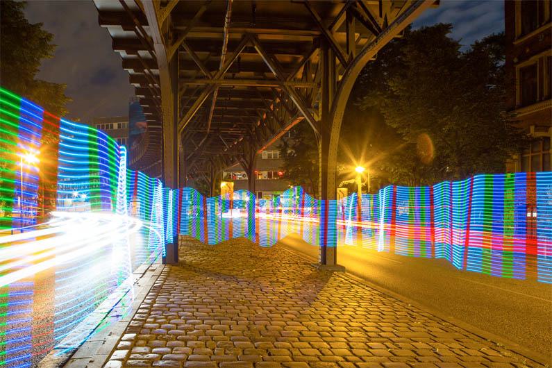 Light Painting Workshop in den Straßen Berlins