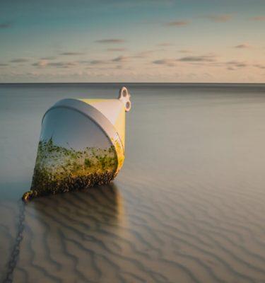 Boje im Wattenmeer von Sankt Peter-Ording