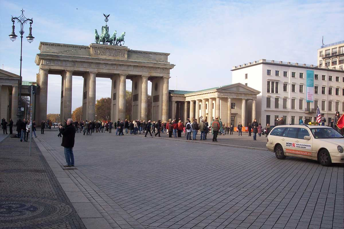 Brandenburger Tor in Berlin am 13.11.2009