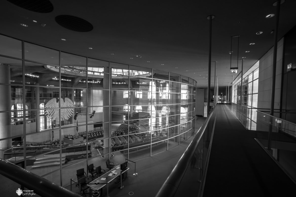 Reichstag: Blick in Plenarsaal